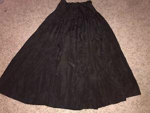 Y2K Vintage Gray Striped Velvet Skirt Size XS to Small