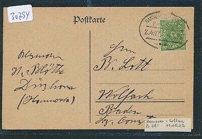 30794) Bahnpost Ovalstempel Hannover - Soltau Z.487, Karte 1923 Durchblutung GläTten Und Schmerzen Stoppen