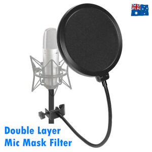 Recording-Studio-Microphone-Wind-Screen-Mic-Pop-Filter-Mask-Shield-Double-Layer
