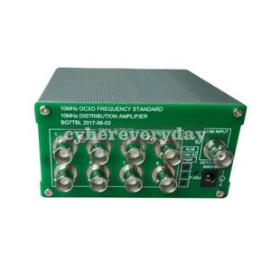 10MHz-Frequency-Distribution-Amplifier-10MHz-OCXO-Frequency-Clock-Divider-8ports