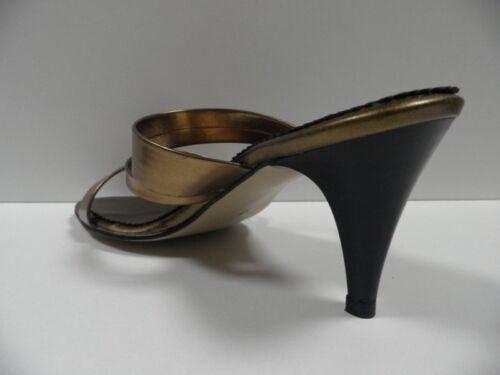 Été Jaune Taille 38 Chaussures Doré Femme Parbis Neuf Sandales Escarpins Ouvert fSZqz5