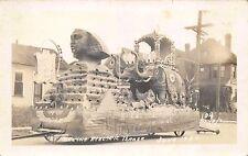 June 1930 RP Postcard Shrine Electric Parade Float Los Angeles California~112781