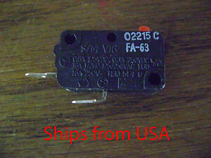 SZM-V16-FA63 For LG Microwave Oven 3B73362F Micro Switch Normally Open