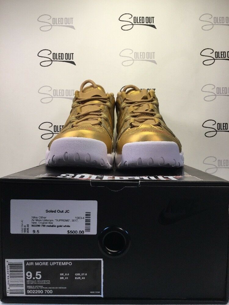 "AIR MORE UPTEMPO ""SUPREME"" 2017 ITEM NUMBER 1563-4"