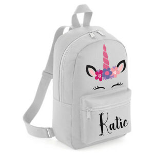 Personalised-Kids-Backpack-Any-Name-Pink-Unicorn-Girls-Back-To-School-Bag-MBU3