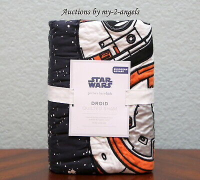 New Pottery Barn Kids Star Wars Droid Quilt Ed Euro Sham