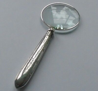 John Sanderson /& Son HM Silver Handle Magnifying Glass Sheff 1928 George V