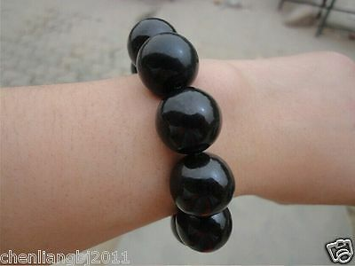 China/'s Large particles hetian jade nephrite round beads elastic men/'s bracelet