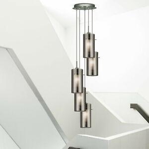 Diseño Cocina Colgante Pared Cristal Pasillo de Nuevo Ahumado Lámpara de Detalles Cromo yvgI6mYb7f
