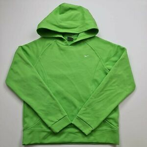 Nike Boys Girls Kids Hoodie Pullover Green Neon Logo Front Size M Age 8 9 10