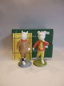 RARE-BESWICK-LIMITED-EDITION-RUPERT-BEAR-amp-PODGY-PIG-BOXED-amp-CERTIFICATED