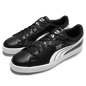 Puma-Basket-Classic-Badge-Black-Silver-Men-Casual-Shoes-Sneakers-362550-02