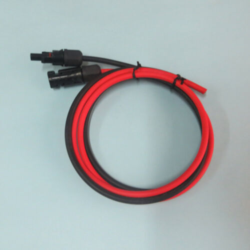 environ 1.07 m panneau solaire PV fil de câble connecteurs MC4 Rouge /& Câble Noir 2.5//4//6 1 Paire 3.5 FT