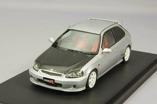 1 43 Mark 43 Honda Civic Type R (EK9) Argent Carbone Métallique Bonnet PM4340CS