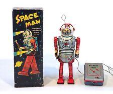 RARE 1950s Original Tin Japan R/C SPACE MAN Robot ORIG BOX Works!!!