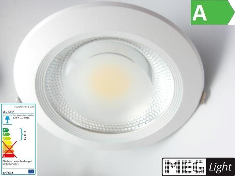 LED Einbauleuchte 30W COB-High-Power-Spot - 2800Lm DA=205mm  - warm-weiß (3000k)