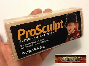 M00031 MOREZMORE 1 lb Prosculpt BEIGE CAUCASIAN Doll Sculpting Polymer Clay T20