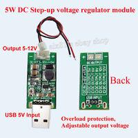 DC-DC Converter USB Step Up Boost Power Supply Module 5V to 5V-12V Adjustable