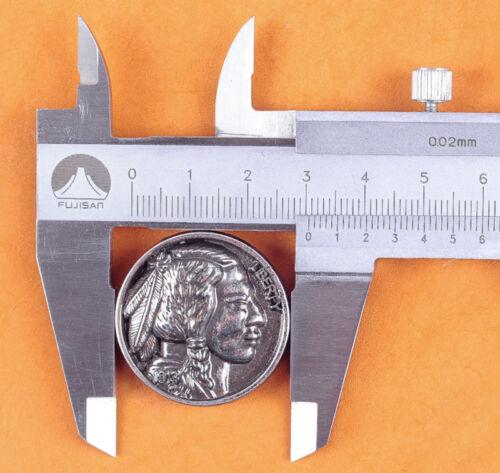 """5pcs 1-1//4 /""""souper Qualité Argent Antique Nickel Indian Head Vis Arrière concho"""
