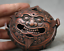 3-8-034-Old-Chinese-Red-Bronze-Dynasty-Beast-Zun-Statue-Incense-Burner-Censer thumbnail 4