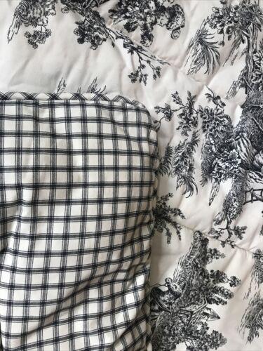Waverly Garden Room Black Cream Toile, Black And Cream Toile Queen Bedding