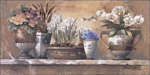 James Lee Antique Blossoms Keilrahmen-Bild Leinwand Blumen antik Vintage