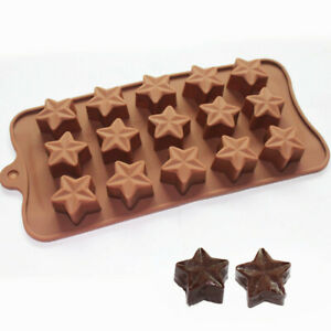 15-Cavity-New-Jeweled-Star-Silicone-Soap-Mold-Chocolate-Candy-Ice-Cube-Mold