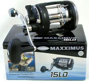 Fladen-Maxximus-15LD-Boat-Multiplier-Fishing-Reel-Level-Wind-Lever-Drag-Trolling
