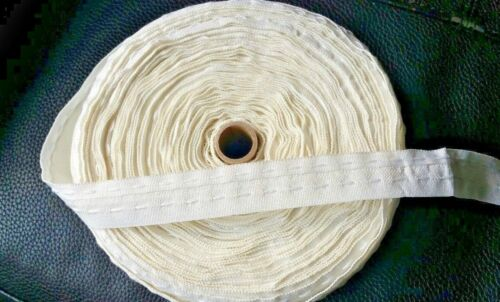 """White Flange Lining Curtain Tape Variety of Lengths *Good Quality* 25 mm 1/"""""""