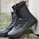 Mens  Military COMBAT Boots Zipper Desert Tan Waterproof Tactical Police new