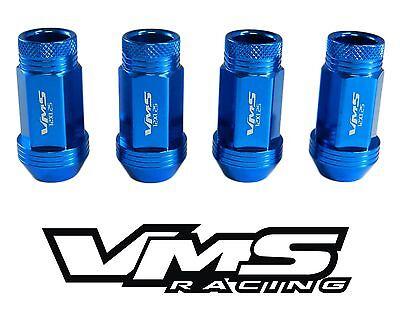 VMS RACING 20PC 48MM PREMIUM EXTENDED WHEEL LUG NUTS 12X1.25 BLUE FOR SUBARU