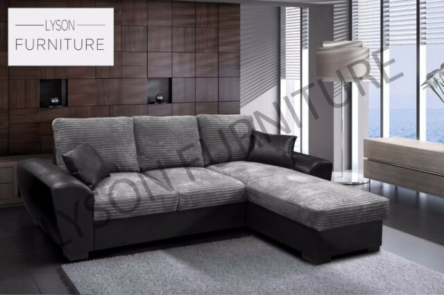 New Sofa Bed Corner Gianni Giani Fabric Grey Brown