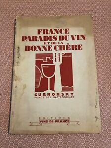 [14736-B66] Gastronomie - Curnonsky - France Paradis du Vin - Vins de France