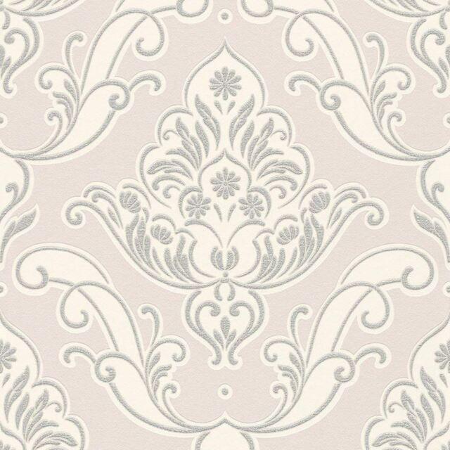 Gatsby Paillete Papier Peint Damas Rose Rasch 319637 Ebay