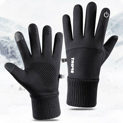 Linlook Winter Handschuhe Fahrrad Motorrad Laufen Touchscreen Elastisch Sport Gloves fur Herren Damen Winddicht rutschfest Atmungsaktive Outdoor Warm Handschuhe Vorwinter Fr/ühling Herbst Schwarz