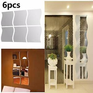 6pcs-DIY-Removable-Home-Room-Wall-Mirror-Sticker-Art-Vinyl-Mural-Decor-Decal-YS