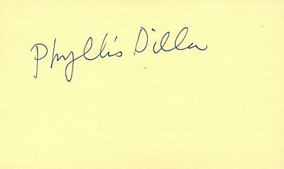 Movies Autographs-original Contemplative Phyllis Diller Actress Comedian 1976 Tv Movie Autographed Signed Index Card Pleasant To The Palate