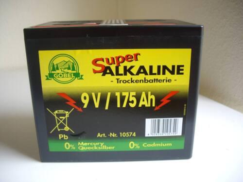 Alkaline 9 Volt 175 AH Weidezaun Batterie für Weidezaungerät Weidebatterie 175aH