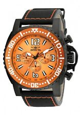 Invicta Pro Diver Mens 50mm Black Orange Swiss Quartz Nylon Strap Watch 20063