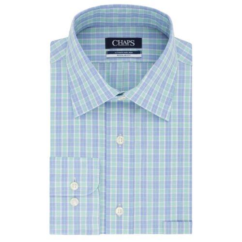 Men/'s Chaps Classic//Regular-Fit No-Iron Stretch Spread-Collar Dress Shirt