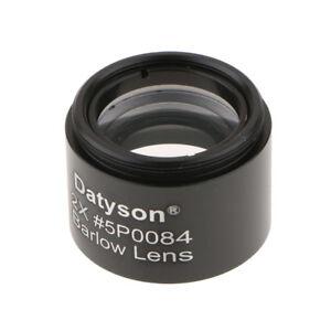 1-25-034-31-7mm-2X-Barlow-Lens-M28-6-0-6-Thread-for-Telescope-Eyepiece-Black