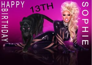 Image Is Loading Personalised RuPaul Drag Queen A5 Birthday Card AnyNAMEage