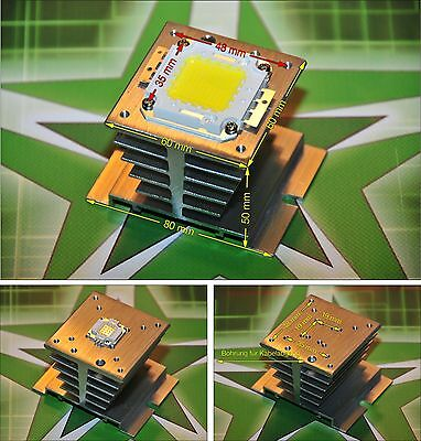 Alu Kühlkörper Heat Sink für 10 - 100 W Watt LED Chip DIY Fluter SMD Flutlicht