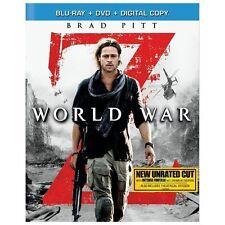 World War Z (Blu-ray + DVD, 2-Disc Set, Unrated) Zombie, Brad Pitt, Matthew Fox