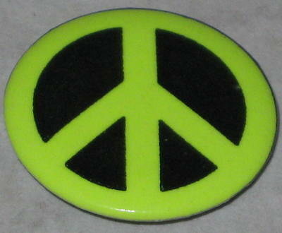 "1"" Peace Sign Pin - Green"