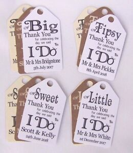 Personalised Wedding Gift/Favour Vintage Luggage Tags/Labels -Thank ...