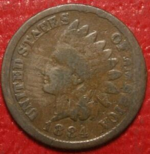 1884-Indian-Head-Cent-Penny-CIRCULATED-US-Coin