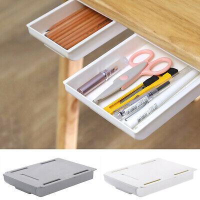 Self Stick Pencil Tray Desk Table, Under Desk Storage Drawer