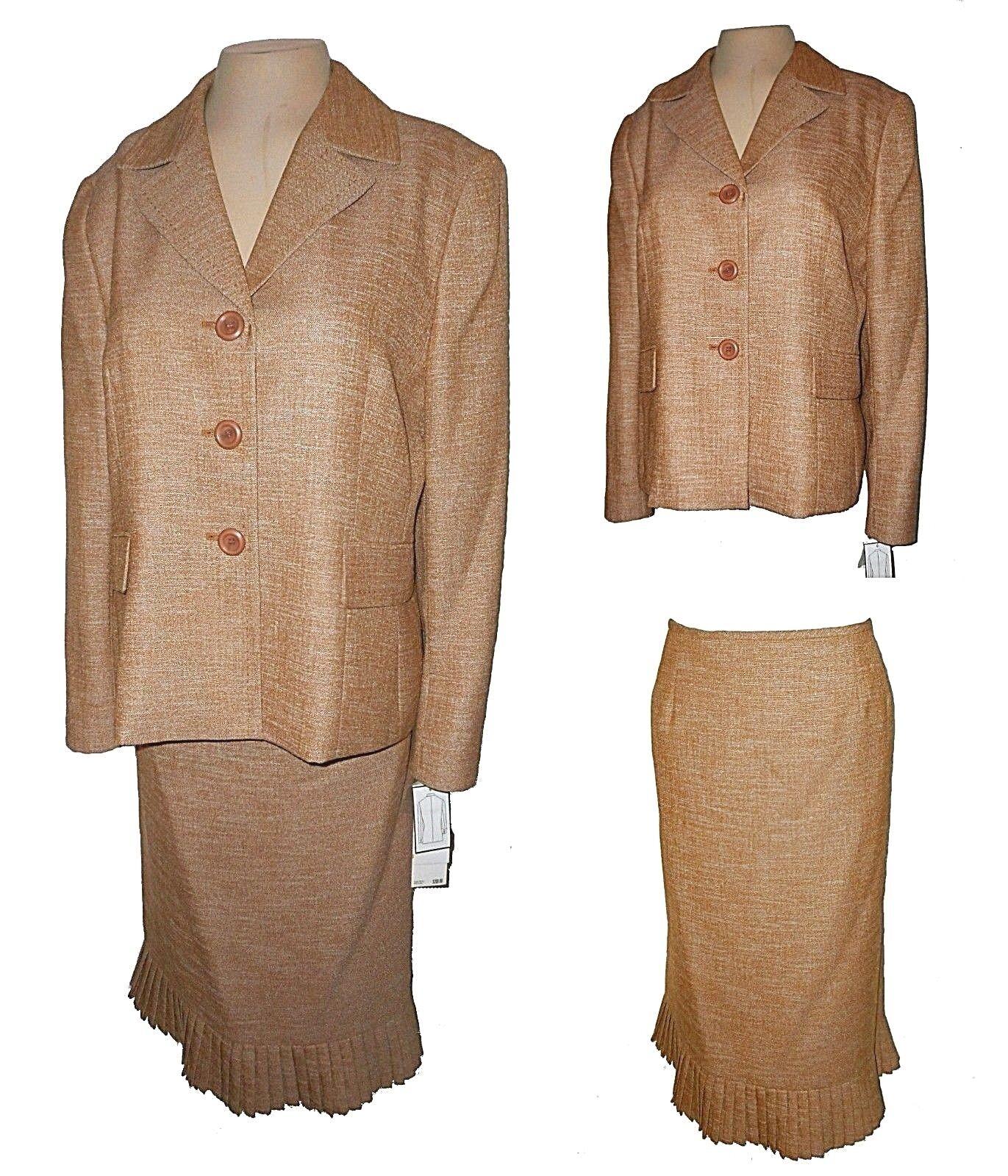 New 2-PC Suit  Blazer Skirt, Le Suit, Business Beige MSRP- 200.00  14P