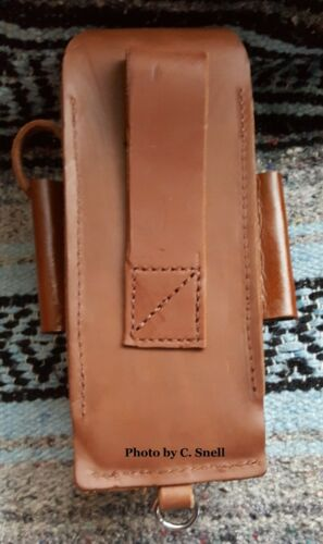 Handmade Amish Logger Leather felling falling bucking wedge Timber cutter Pouch